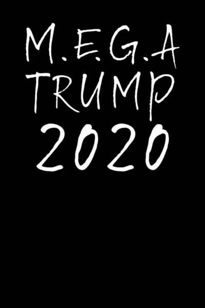 Wall Art - Tapestry - Textile - M.e.g.a Trump 2020 by Az Jackson