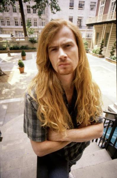 Wall Art - Photograph - Megadeth Dave Mustaine London 1990 by Martyn Goodacre
