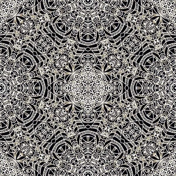 Crochet Digital Art - Mehndi Ethnic Style G419 by Medusa GraphicArt