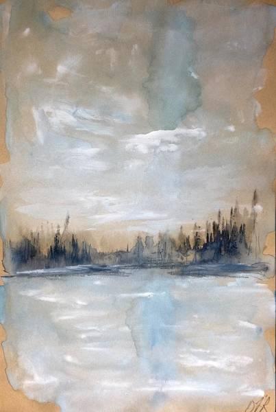 Wall Art - Painting - Melancholy Lake Wash by Desmond Raymond