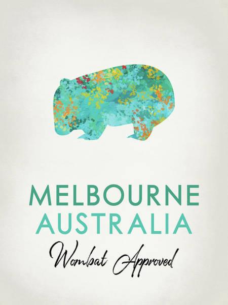 Wall Art - Digital Art - Melbourne Australia Wombat by Flo Karp
