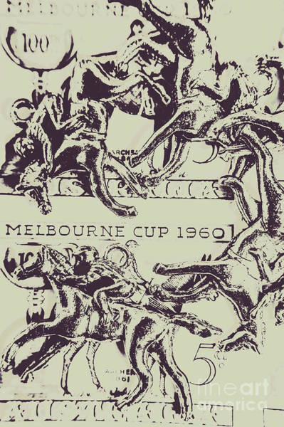 Horseback Wall Art - Photograph - Melbourne Cup 1960 by Jorgo Photography - Wall Art Gallery