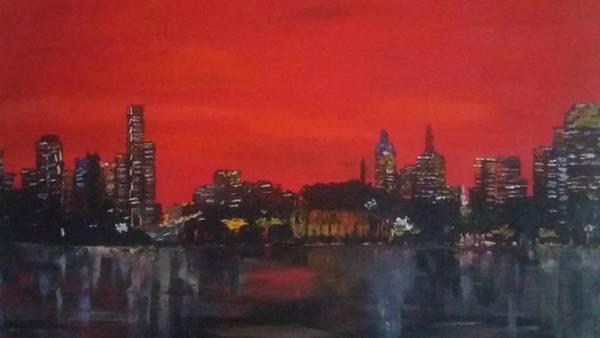 Wall Art - Painting - Melbourne  by Robert Moran