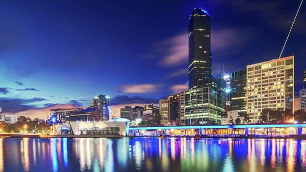 Victoria Tower Wall Art - Photograph - Melbourne Skyline by Thomas Kurmeier