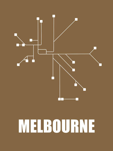 Wall Art - Digital Art - Melbourne Subway Map 2 by Naxart Studio