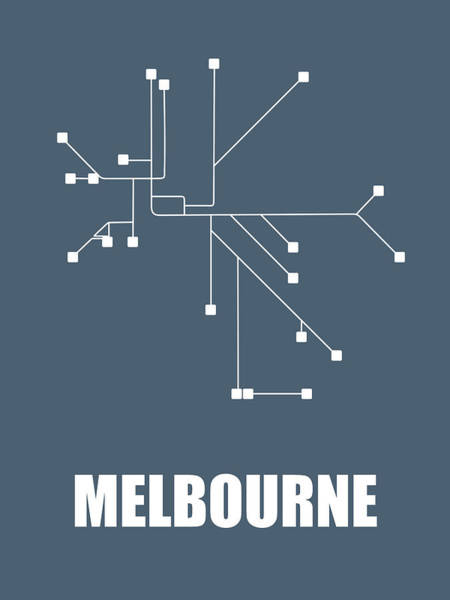 Wall Art - Digital Art - Melbourne Subway Map by Naxart Studio