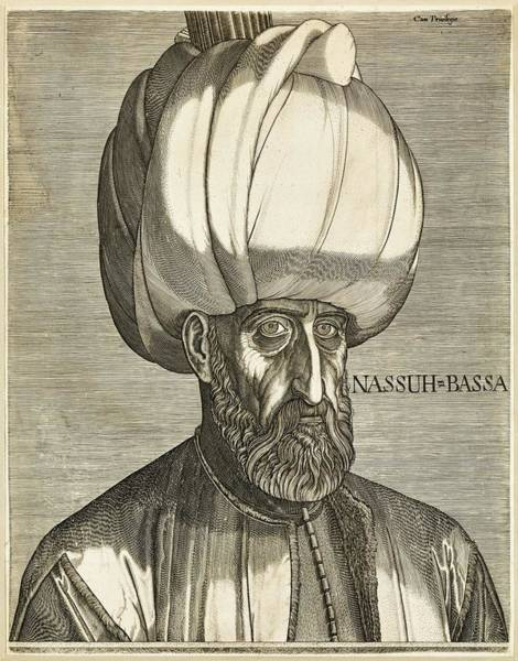 Wall Art - Painting - Melchior Lorck, Danish-german,  1526 7-post 1583  Portrait Of Suleyman The Magnificent  Hollstein  3 by Celestial Images
