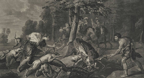 Wall Art - Painting - Meleager And Atalanta Hunting The Calydonian Boar by Peter Paul Rubens