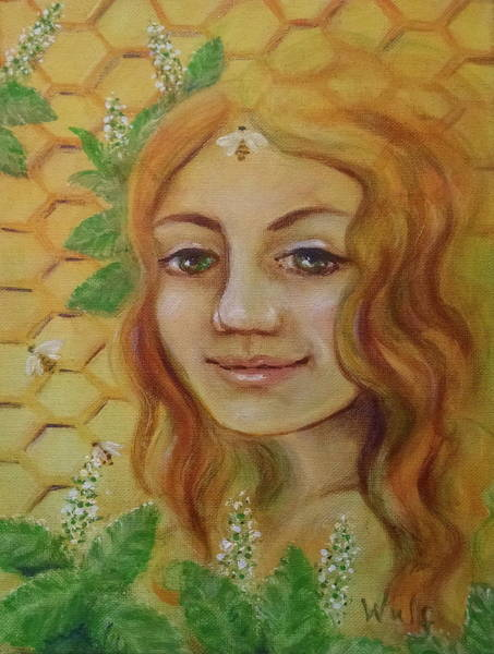 Painting - Melissa - Bee Goddess by Bernadette Wulf