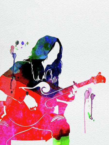 Rock And Roll Mixed Media - Melissa Watercolor by Naxart Studio