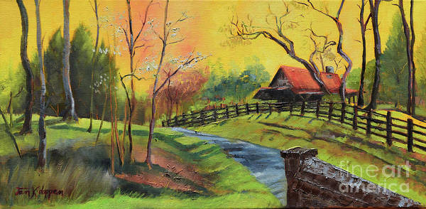 Painting - Mellow Yellow At Falling Waters by Jan Dappen