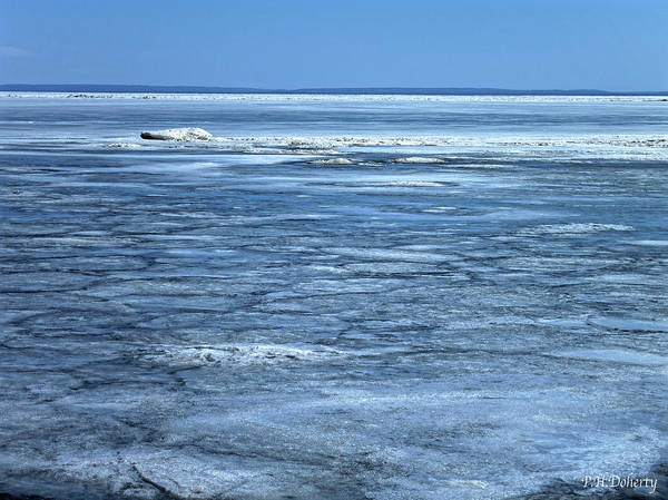 Great Lakes Region Wall Art - Photograph - Melting Underway On Erie by Phill Doherty