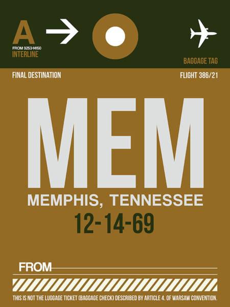 Wall Art - Digital Art - Mem Memphis Luggage Tag I by Naxart Studio