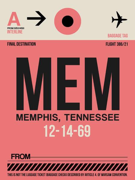 Wall Art - Digital Art - Mem Memphis Luggage Tag II by Naxart Studio