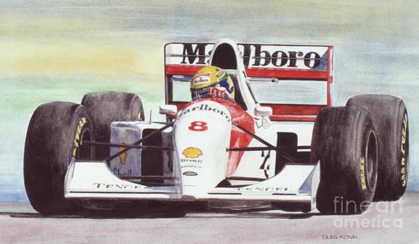 Ayrton Senna Wall Art - Painting - Memories And Feelings by Oleg Konin