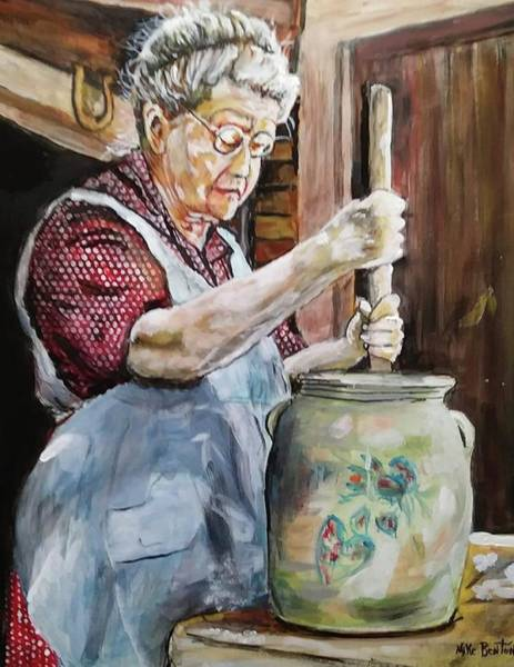 Churn Painting - Memories Made With Butter by Mike Benton