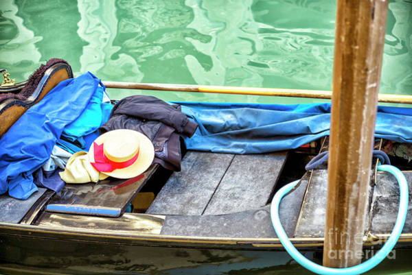 Hats For Sale Photograph - Memories Of A Gondola Ride In Venice by John Rizzuto