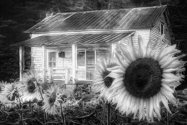 Wall Art - Photograph - Memories Of Home In Black And White by Debra and Dave Vanderlaan