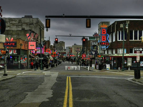 City Cafe Wall Art - Photograph - Memphis - Beale Street 001 by Lance Vaughn