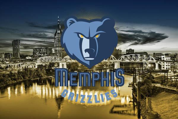 Memphis Grizzlies Digital Art - Memphis Grizzlies Design by Nicholas Legault