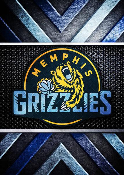 Memphis Grizzlies Digital Art - Memphis Grizzlies Logo Art 1 by William Ng