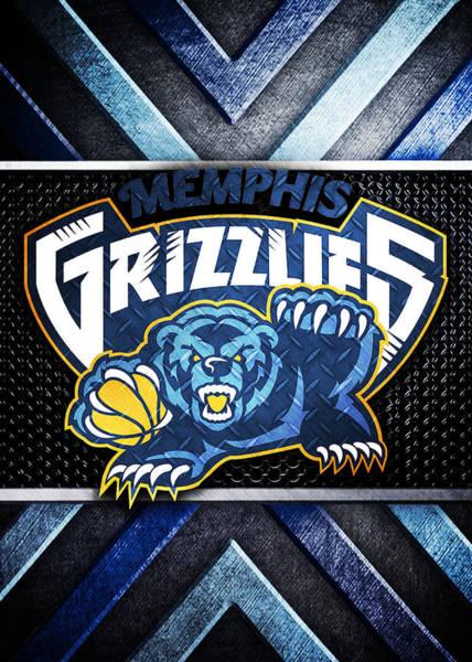 Memphis Grizzlies Wall Art - Digital Art - Memphis Grizzlies Logo Art by William Ng