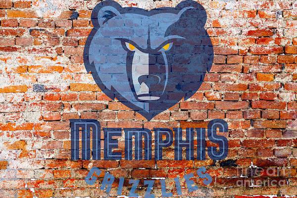 Memphis Grizzlies Wall Art - Digital Art - Memphis Grizzlies by Steven Parker
