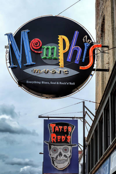 Wall Art - Photograph - Memphis Music And Tater Red's by Susan Rissi Tregoning