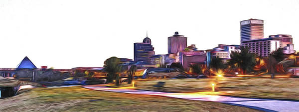 Digital Art - Memphis Skyline by Barry Jones