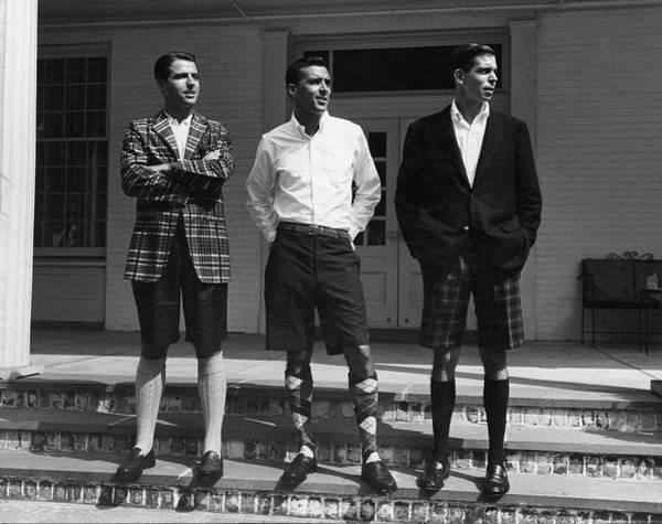 Bermuda Photograph - Men In Bermuda Shorts by Alfred Eisenstaedt
