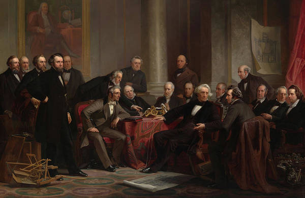 Oil Industry Painting - Men Of Progress, 1862 by Christian Schussele