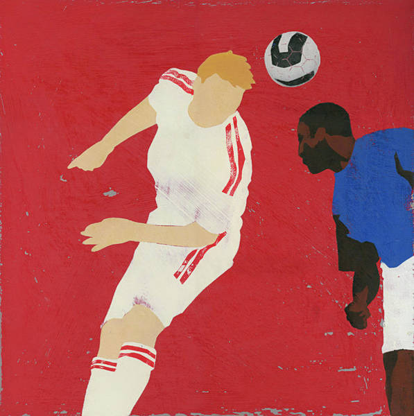Men Digital Art - Men Playing Soccer by Andy Bridge