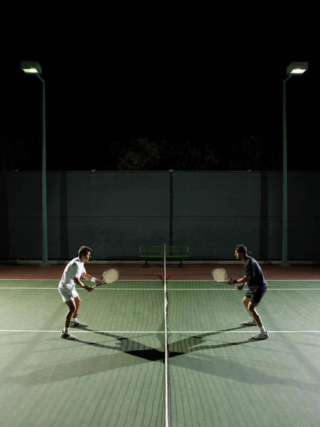 Court Photograph - Men Playing Tennis by Whit Preston