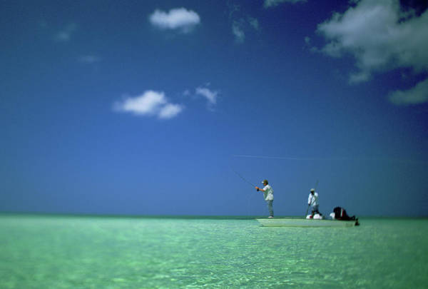 Andros Photograph - Men Saltwater Flyfishing Differential by Brian Bailey