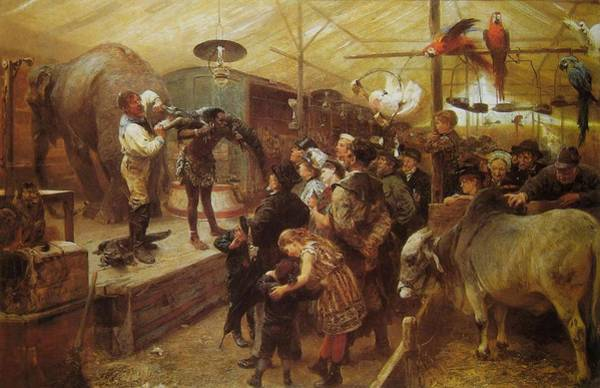 Wall Art - Painting - Menageriein The Animal Shed  by Paul Friedrich Meyerheim