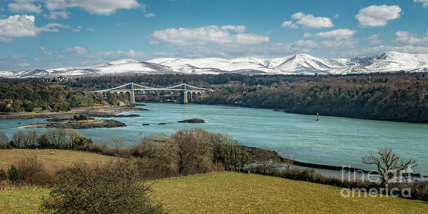Wall Art - Photograph - Menai Bridge Anglesey by Adrian Evans