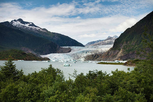 Juneau Photograph - Mendenhall Glacier And Bay by Blake Kent / Design Pics