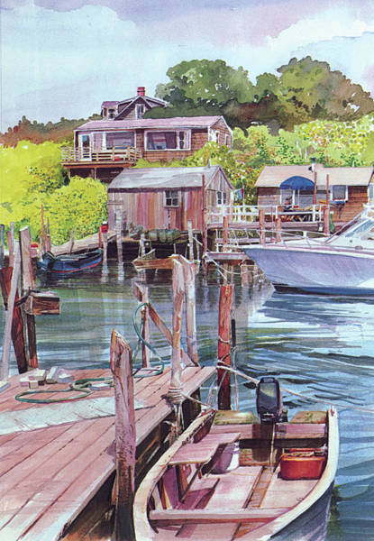 Painting - Menemsha Harbor by P Anthony Visco