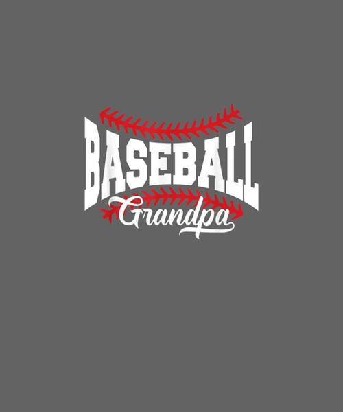 Wall Art - Digital Art - Mens Baseball Grandpa T-shirt by Unique Tees