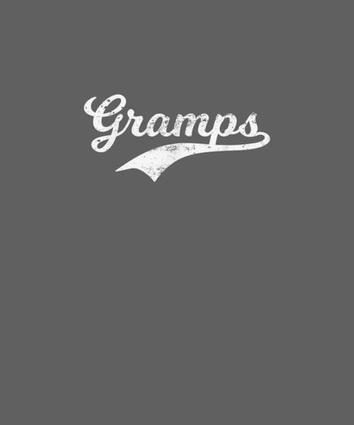 Wall Art - Digital Art - Mens Gramps Gift Grandpa Papa Grandad Father's Day T Shirt by Unique Tees