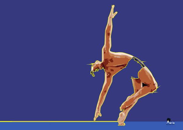 Sportsman Digital Art - Men Rhythmic Gymnastics by Joaquin Abella