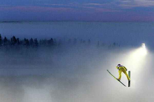 Ski Jumping Photograph - Mens Ski Jumping Hs134 - Fis Nordic by Christof Koepsel