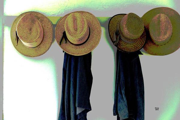 Walnut Mixed Media - Men's Straw Hats by Charles Shoup