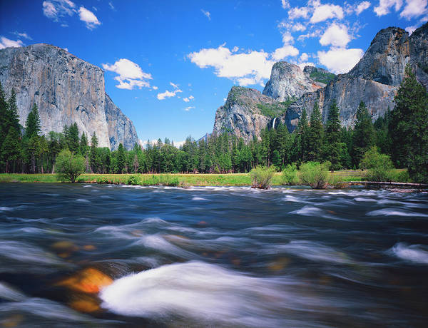 Wall Art - Photograph - Merced River In  Yosemite National by Ron And Patty Thomas