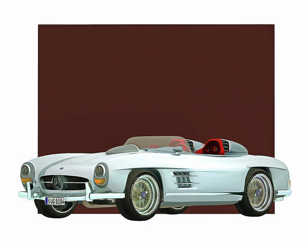 Digital Art - Mercedes 300sl Daytona Concept Roadster by Jan Keteleer