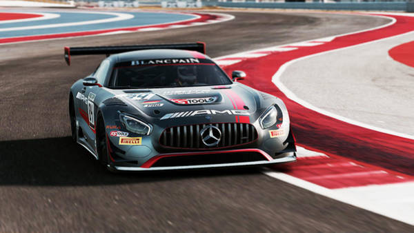 Photograph - Mercedes Amg Gt3 - 52 by Andrea Mazzocchetti