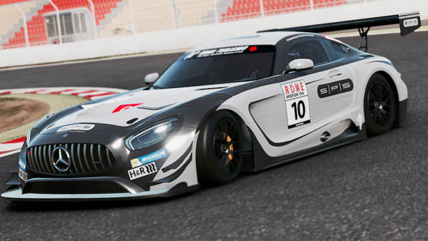 Photograph - Mercedes Amg Gt3 - 58 by Andrea Mazzocchetti