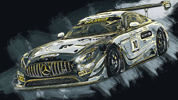 Painting - Mercedes Amg Gt3 - 65 by Andrea Mazzocchetti