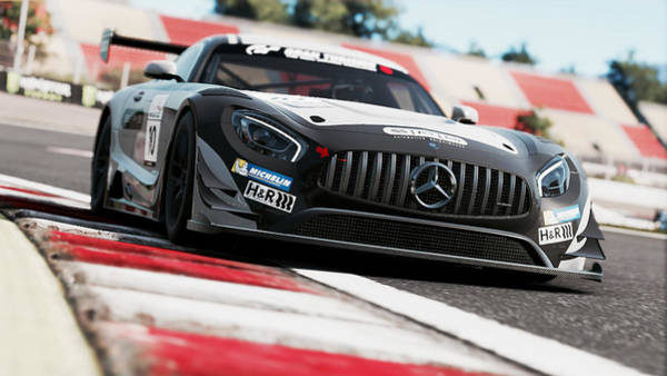 Photograph - Mercedes Amg Gt3 - 73 by Andrea Mazzocchetti