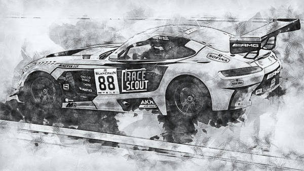Painting - Mercedes Amg Gt3 - 79 by Andrea Mazzocchetti
